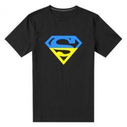 Мужская стрейчевая футболка Український Superman - FatLine