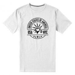 Мужская стрейчевая футболка USA NYC - FatLine
