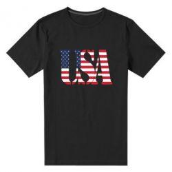 Мужская стрейчевая футболка USA - FatLine