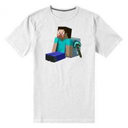 Мужская стрейчевая футболка Уставший Стив - FatLine