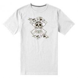 Мужская стрейчевая футболка Vape to live - FatLine