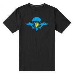 Мужская стрейчевая футболка ВДВ з гербом