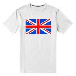 Мужская стрейчевая футболка Великобритания - FatLine