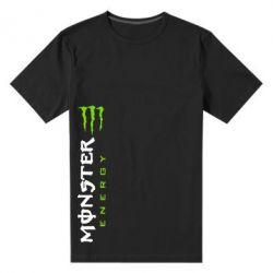 Мужская стрейчевая футболка Вертикальный Monster Energy - FatLine