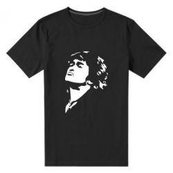 Мужская стрейчевая футболка Виктор Цой - FatLine