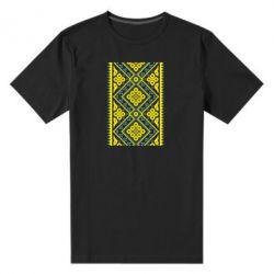 Мужская стрейчевая футболка Вишиванка - FatLine