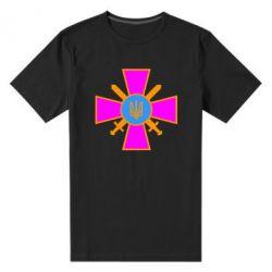 Мужская стрейчевая футболка Військо України - FatLine