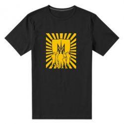Мужская стрейчевая футболка Військо українське - FatLine