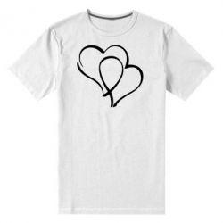 Мужская стрейчевая футболка Влюбленные сердца - FatLine