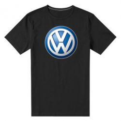 Мужская стрейчевая футболка Volkswagen 3D Logo - FatLine