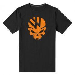 Мужская стрейчевая футболка Volkswagen Skull - FatLine