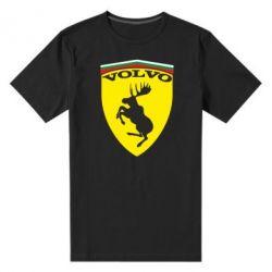 Мужская стрейчевая футболка Volvo Logo - FatLine