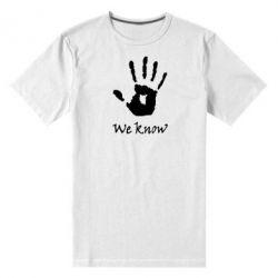 Мужская стрейчевая футболка We know - FatLine