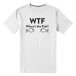Чоловіча стрейчева футболка Where is The Fish