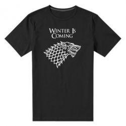 Мужская стрейчевая футболка Winter is coming (Игра престолов) - FatLine