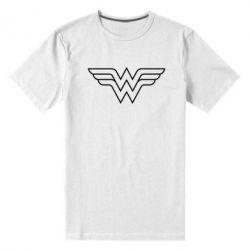 Мужская стрейчевая футболка Wonder Woman Logo - FatLine