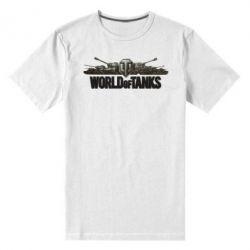 Мужская стрейчевая футболка World Of Tanks 3D Logo - FatLine
