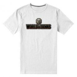 Мужская стрейчевая футболка World Of Tanks Logo - FatLine