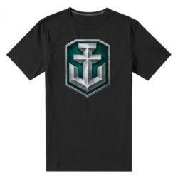 Мужская стрейчевая футболка World of Warships Main Logo