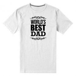 Мужская стрейчевая футболка World's Best Dad - FatLine