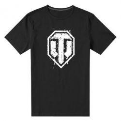 Мужская стрейчевая футболка WOT Logo - FatLine