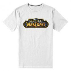 Мужская стрейчевая футболка Wow Logo - FatLine
