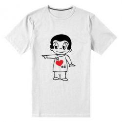 Мужская стрейчевая футболка Я люблю ее