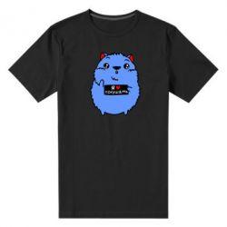 Мужская стрейчевая футболка Я люблю кушать - FatLine