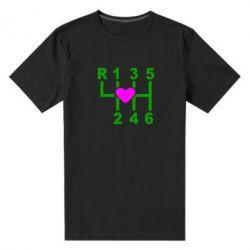 Мужская стрейчевая футболка Я люблю механическую коробку передач! - FatLine