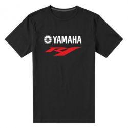 Мужская стрейчевая футболка Yamaha R1 - FatLine