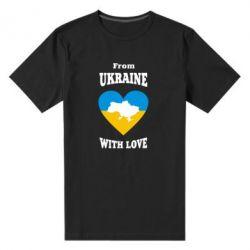 Чоловіча стрейчева футболка З України з любов'ю