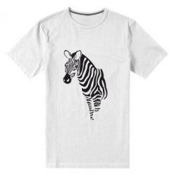 Мужская стрейчевая футболка Зебра - FatLine