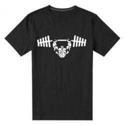 Мужская стрейчевая футболка Жим штанги - FatLine