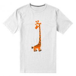 Чоловіча стрейчева футболка Жираф