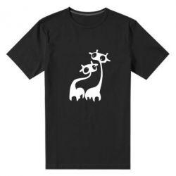 Мужская стрейчевая футболка Жирафы - FatLine