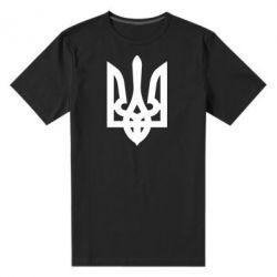 Мужская стрейчевая футболка Жирный Герб Украины - FatLine