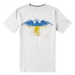 Мужская стрейчевая футболка Жовто-блакитний птах - FatLine