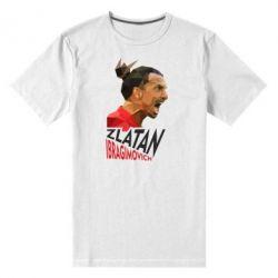 Мужская стрейчевая футболка Златан Ибрагимович, полигональный портрет