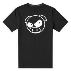 Мужская стрейчевая футболка Злая свинка - FatLine
