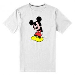 Мужская стрейчевая футболка Злой Микки Маус - FatLine