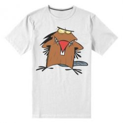 Мужская стрейчевая футболка Злюки бобри - FatLine