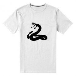 Мужская стрейчевая футболка Змея - FatLine