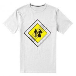 Мужская стрейчевая футболка знак свадьбы - FatLine