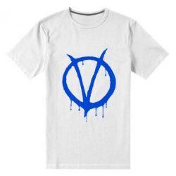 Мужская стрейчевая футболка Знак Вендетты - FatLine
