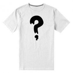 Мужская стрейчевая футболка Знак Вопроса - FatLine