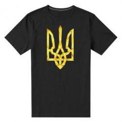Мужская стрейчевая футболка Золотий герб - FatLine