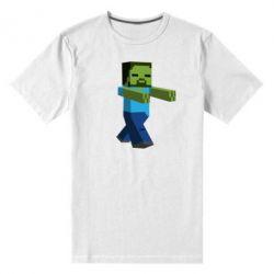 Мужская стрейчевая футболка Зомби Minecraft - FatLine