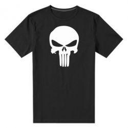 Мужская стрейчевая футболка Зубастый череп - FatLine