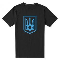 Мужская стрейчевая футболка Звезда Давида+герб - FatLine