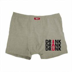 Мужские трусы Drink Drank Drunk